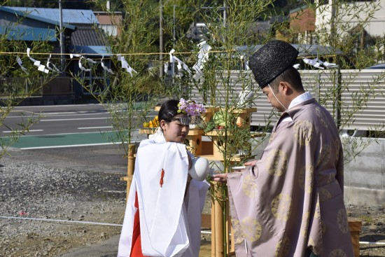 岩田邸地鎮祭